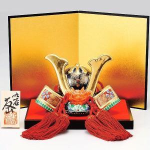 初節句 お祝い 五月人形 九谷焼 陶器 兜飾り 金彩|waza