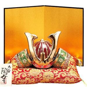 初節句 お祝い 五月人形 九谷焼 陶器 兜飾り 盛|waza
