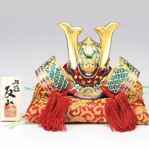 初節句 お祝い 五月人形 九谷焼 陶器 兜飾り 緑彩|waza