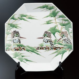 陶芸家 山岸大成 九谷焼 飾皿 山蝉|waza
