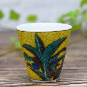 九谷焼 ぐい飲み 万年青 喜寿祝い 誕生日プレゼント waza
