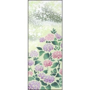 紫陽花    木漏れ日 梅雨 手ぬぐい wazakka