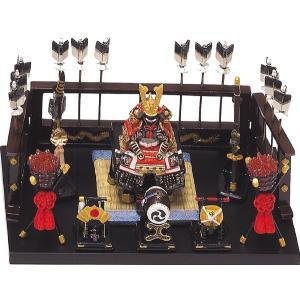 五月人形 端午の節句 鎧平飾り小赤 節句人形・こどもの日・鎧兜・コンパクトサイズ・ミニサイズ|wazakkahonpo
