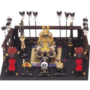 五月人形 端午の節句 鎧平飾り小黄金色 節句人形・こどもの日・鎧兜・コンパクトサイズ・ミニサイズ|wazakkahonpo