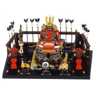 五月人形 端午の節句 鎧平飾り大赤 節句人形・こどもの日・鎧兜・コンパクトサイズ・ミニサイズ|wazakkahonpo