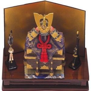 五月人形 端午の節句 櫃付兜大飾り台付赤色 節句人形・こどもの日・鎧兜・コンパクトサイズ・ミニサイズ|wazakkahonpo