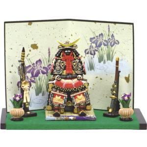 五月人形 端午の節句 伊達公鎧中弓太刀付赤 伊達正宗・節句人形・こどもの日・鎧兜・コンパクトサイズ・ミニサイズ|wazakkahonpo