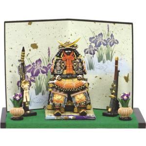 五月人形 端午の節句 伊達公鎧中弓太刀付緋 伊達正宗・節句人形・こどもの日・鎧兜・コンパクトサイズ・ミニサイズ|wazakkahonpo