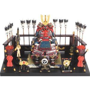 五月人形 端午の節句 鎧平飾り大青 節句人形・こどもの日・鎧兜・コンパクトサイズ・ミニサイズ|wazakkahonpo