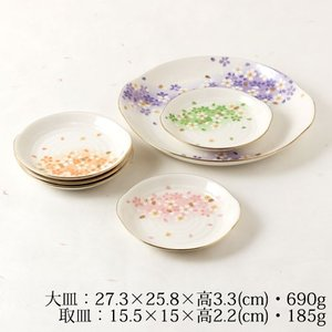 ※こちらの商品は当店のコレクションで、未使用品です。  桜のデザインで有名な小説家、宇野千代の食器セ...