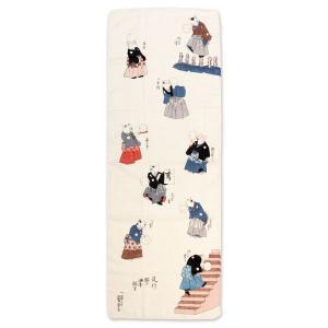 江戸時代末期を代表する浮世絵師の一人「歌川国芳」の浮世絵を用いた手拭い。 発想の豊かさ、斬新なデザイ...