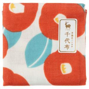 中川政七商店 千代布 紅椿 ガーゼハンカチ Cotton handkerchief
