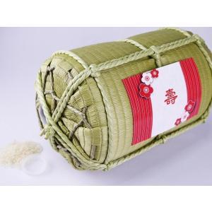 世界に一つ、全てのお祝い、贈って喜ばれ、永く真心が伝わる,サプライズ・ギフトの 縁起米俵 無洗米3kg入り(取り出し口付)|wazuka