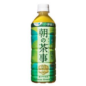 訳あり セール 送料無料 お茶 緑茶 朝の茶事 525ml 24本入 ペットボトル|wb-water