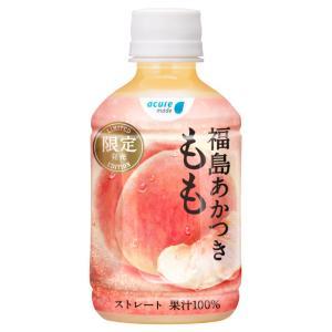 桃 福島あかつき もも 280ml 24本入 | 送料無料 ストレート フルーツ ジュース 飲み物 ...