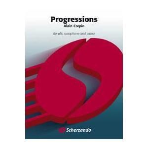 (楽譜) プログレッションズ / 作曲:アラン・クレパン (アルト・サクソフォーン&ピアノ) wbpplus