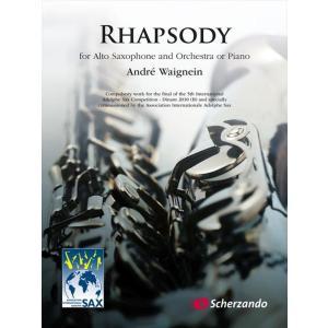 (楽譜) ラプソディ / 作曲:アンドレ・ウェニャン (アルト・サクソフォーン&ピアノ)|wbpplus