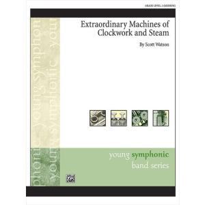 (楽譜) 時計仕掛けと蒸気の並外れた機械 / 作曲:スコット・ワトソン (吹奏楽)(スコア+パート譜セット) wbpplus