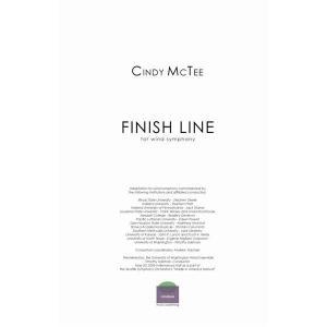 (楽譜) フィニッシュ・ライン / 作曲:シンディー・マクティー (吹奏楽)(フルスコアのみ) wbpplus