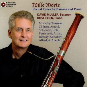 (CD) ミッレ・モルテ:ファゴットとピアノのためのリサイタル・ピース / 演奏:デヴィッド・ミュラー (ファゴット)|wbpplus