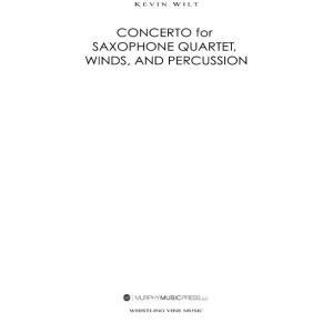 (楽譜) サクソフォーン四重奏と吹奏楽のための協奏曲 / 作曲:ケヴィン・ウィルト (吹奏楽)(パー...