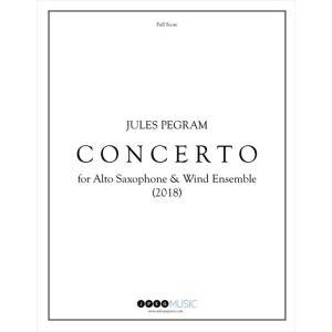 (楽譜) アルト・サクソフォーンと吹奏楽のための協奏曲 / 作曲:ジュールス・ピグラム (吹奏楽 サ...