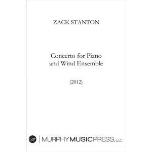 (楽譜) ピアノと吹奏楽のための協奏曲 /  作曲:ザック・スタントン (吹奏楽)(スコア+パート譜...