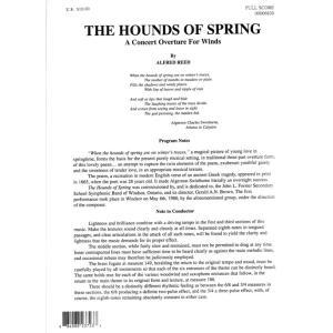 (楽譜) 序曲「春の猟犬」 / 作曲:アルフレッド・リード (吹奏楽)(フルスコアのみ)|wbpplus