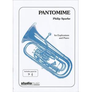(楽譜) パントマイム / 作曲:フィリップ・スパーク (ユーフォニアム&ピアノ)(スコア+パート譜セット)|wbpplus