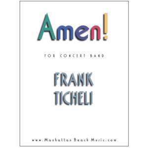 (楽譜) アーメン! / 作曲:フランク・ティケリ (吹奏楽)(スコア+パート譜セット) wbpplus