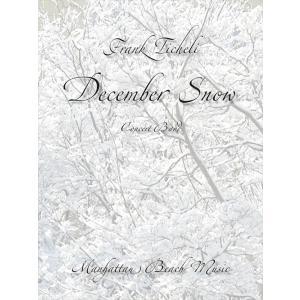 (楽譜) 十二月の雪 / 作曲:フランク・ティケリ (吹奏楽)(スコア+パート譜セット) wbpplus