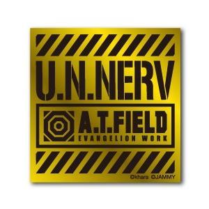 A.T.FIELD ステッカー U.N.NERV ATF007G 鏡面 ゴールド エヴァンゲリオン|we-love-sticker