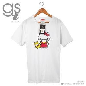 【ネット限定商品】 ハローキティ キャラクターTシャツ サンリオ マスクシリーズ レディース M L イラスト ライセンス商品 GST038 gsオリジナル 公式グッズ|we-love-sticker