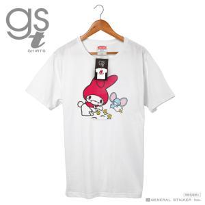 【ネット限定商品】 マイメロディ キャラクターTシャツ サンリオ マスクシリーズ レディース M L イラスト ライセンス商品 GST039 gsオリジナル 公式グッズ|we-love-sticker