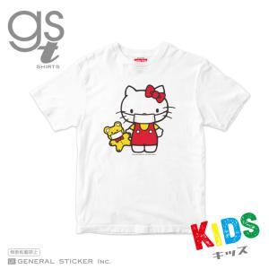 【キッズサイズ 90cm〜140cm】 ハローキティ キャラクターTシャツ サンリオ マスクシリーズ 子供用 ライセンス商品 GSTK038 gsオリジナル 公式グッズ|we-love-sticker