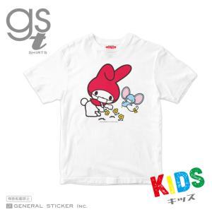 【キッズサイズ 90cm〜140cm】 マイメロディ キャラクターTシャツ サンリオ マスクシリーズ 子供用 ライセンス商品 GSTK039 gsオリジナル 公式グッズ|we-love-sticker