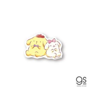 ポムポムプリン ミニステッカー プリン&マカロンちゃん キャラクターステッカー サンリオ イラスト ...