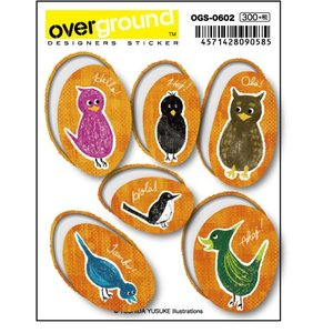 OGS-0602 / 吉田ユウスケ /greeting birds 2 (アーティストグッズ、イラストレーターステッカー)|we-love-sticker