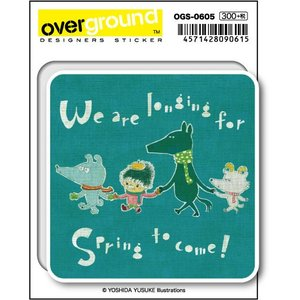 OGS-0605 / 吉田ユウスケ /longing for spring (アーティストグッズ、イラストレーターステッカー)|we-love-sticker