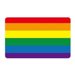 レインボーフラッグステッカー03 Sサイズ SK239 国旗ステッカー LGBT pride fla...