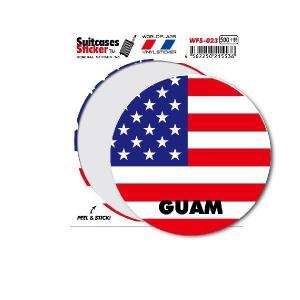 国旗ステッカー グアム GUAM サークル WFS023 トラベル ステッカー 旅行 グッズ
