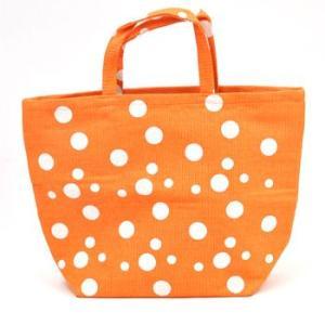 トートバッグ オレンジ水玉|web-beauty