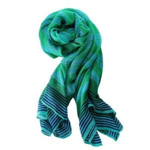 ステラ&ドット パームスプリング スカーフ ターコイズストライプ|web-beauty