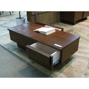 100センターテーブル ブラウン色 受注生産品 立体感のある個性的なセンターテーブル 長方形 ローテーブル リビングテーブル 送料無料 web-interior