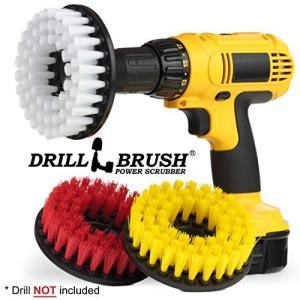 Drillbrush タイルとグラウトバスルーム、3階ドリルブラシクリーニングキット|web-mark