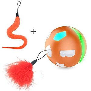 猫 自動 おもちゃ 人気 猫用おもちゃ ボール LED 光るボール 犬用おもちゃ 電動おもちゃ ペット用 玩具 (オレン|web-mark