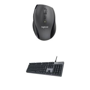 ロジクール生産性アップセット ワイヤレスマウスM705m  メカニカルキーボードK840 セット