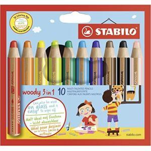 スタビロ 色鉛筆 ウッディー3in1 10色 880-10|web-mark