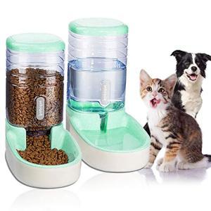 Lucky-M ペット猫犬自動給水機とフードフィーダ3.8 L 1 *ウォーターディスペンサーと1 *ペット自動フィーダー (グ|web-mark