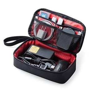 サンワダイレクト トラベルポーチ 充電器ポーチ PC周辺小物整理 収納ポーチ 旅行 ブラック 200...